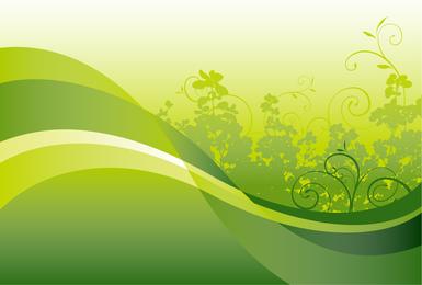 Verde floral con