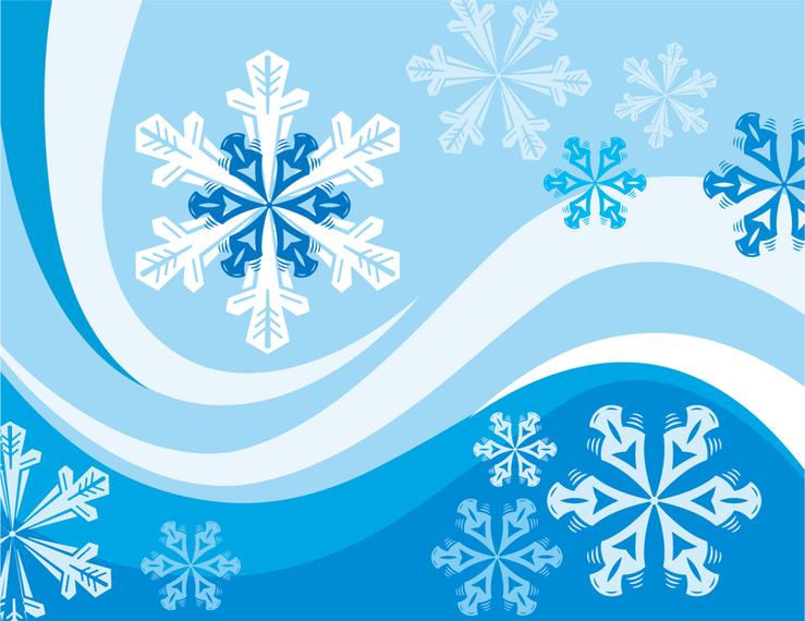 Snowflakes Winter Wallpaper