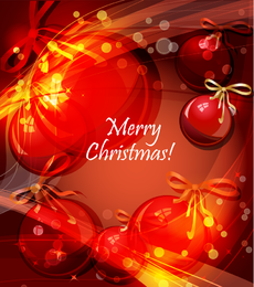Superposed Christmas balls background