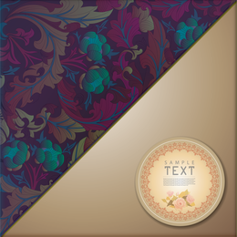 Floral pattern design with label