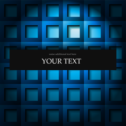 Blue three-dimensional squares background