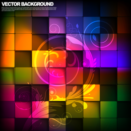 Colorful mosaic 3D background