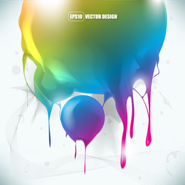 Rainbow tones shape design