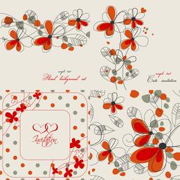 Elegante fondo floral 3