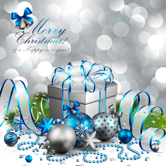 Merry Christmas background with gifts