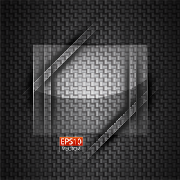 Square glass over gray texture