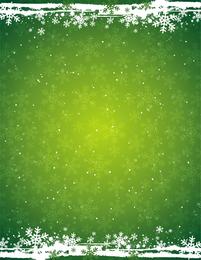Fundo verde floco de neve