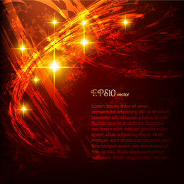 Abstract grunge red design with sparks