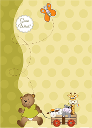 Teddy bear with plushes illustration design