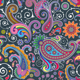 Illustrated paisley background design