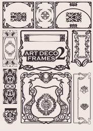 European art deco frames