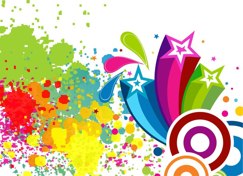 Manchas de colores abscract descargar vector for De colores de colores