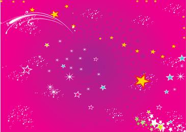 Fondo de estrellas rosadas