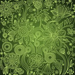 Grün floral nahtlos