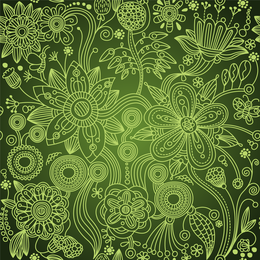 Verde Floral Sin Costuras