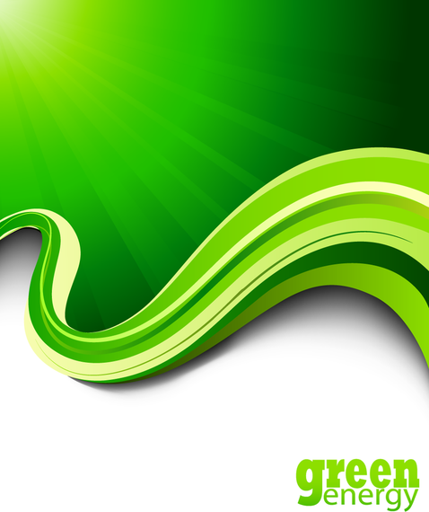 Green Abstract Background With 3d Lines Vector Download