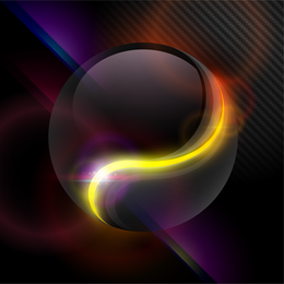 Abstract transparent sphere