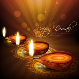 Exquisite Diwali Background 3