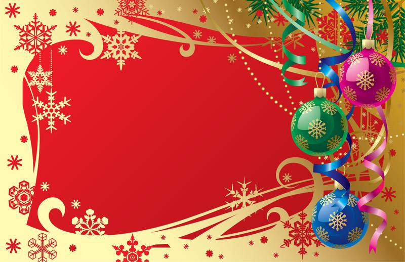 Plantilla de mensaje de Navidad de lujo - Descargar vector