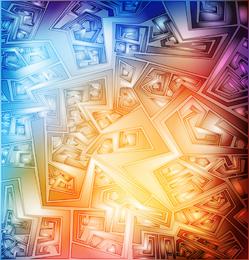 Design artístico abstrato colorido