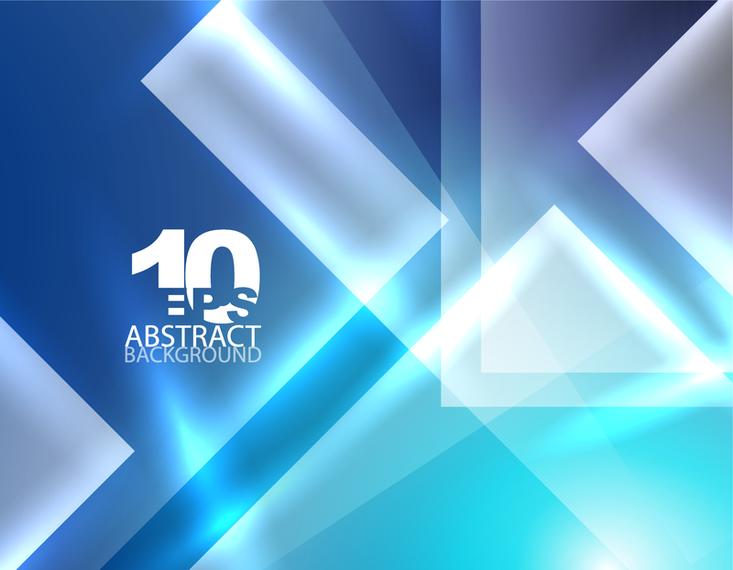 Blue dynamic polygonal backdrop