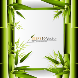Marco de fondo de bambú 3D