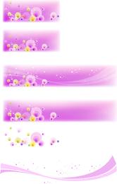 Girly Banner Designs mit Blasen