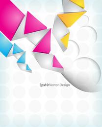 Origami de fundo Vector