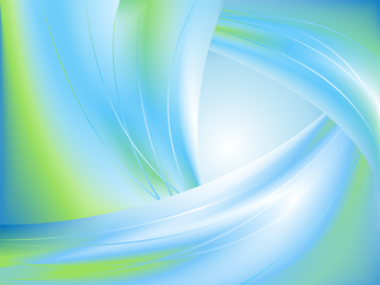 Gradient green blue waves background