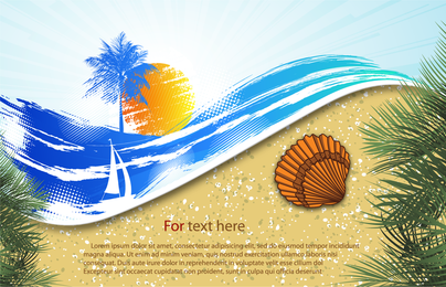 Summer Beach Background 6