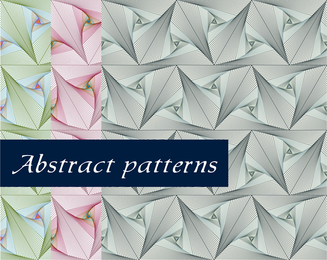 3 abstract floral soft colored patterns