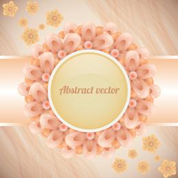 Coral flower label background design