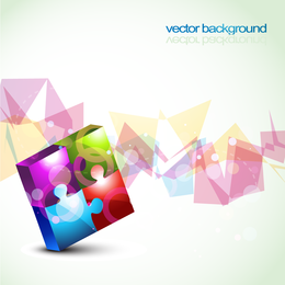 Colorful 3D puzzle background