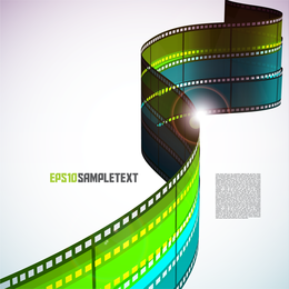 Negativo filme colorido