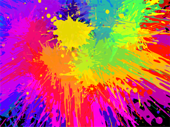 Colorful Paint Splats