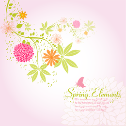 Fondo de flor de primavera