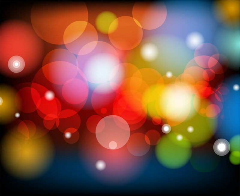 Colorful Bokeh Background - Vector download