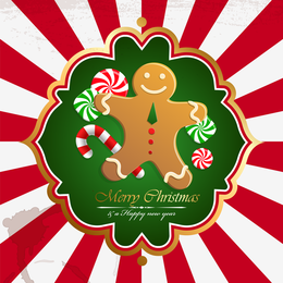 Christmas design with gingerbread man