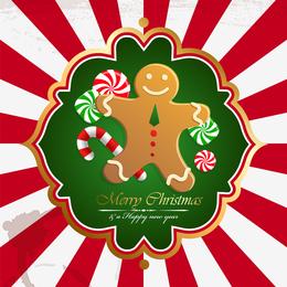 Diseño navideño con pan de jengibre.