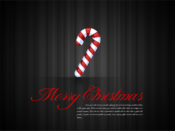 Dark Christmas background with candy cane