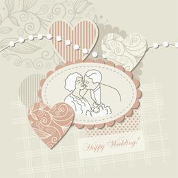 Etiqueta de la boda de fondo 4