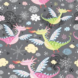 Desenhos animados do dinossauro Illustrator 3