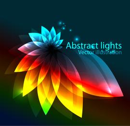 Diseño de la flor del arco iris abstracto