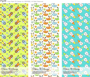 Illustrated elements pattern set