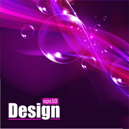 Fondo de burbuja púrpura con desenfoque