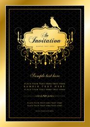 Plantilla de invitación elegante