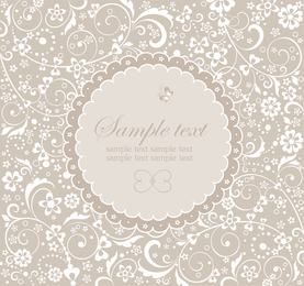 Wedding label design with swirls