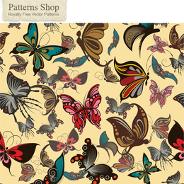 Butterfly Pattern Background 3