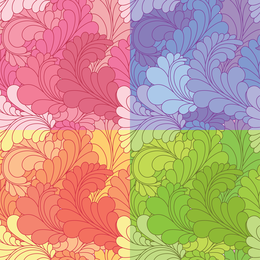 Set of 4 feather backgrounds