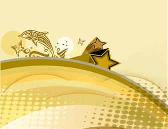 Golden Dolhpin Background